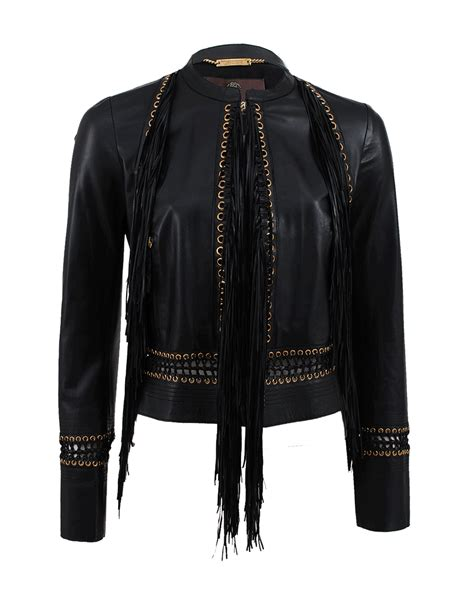 Roberto Cavalli At Hm Goes Just As Nuts In New York by Lyst Roberto Cavalli Sleeve Fringe Leather Jacket