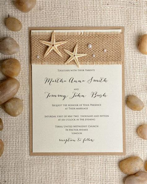 destination wedding invitation templates free starfish wedding invitation 20 invitation
