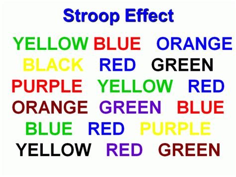 say the color not the word try to say the color not the word comment and follow me