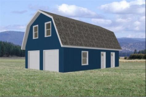 gambrel roof barn barn plans