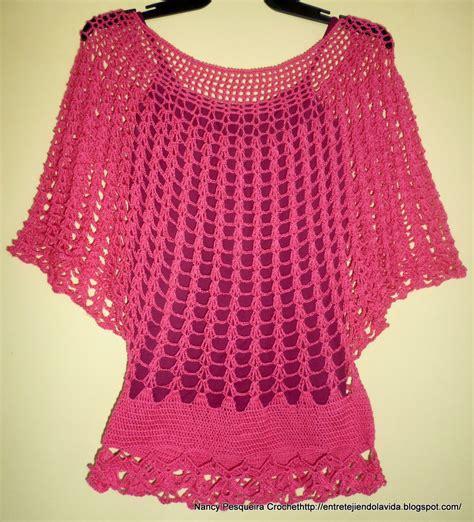 blusa vermelha de crochet crochet clothing pinterest blusas a crochet manga murcielago con patrones buscar