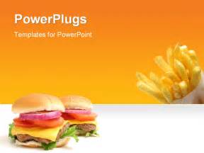 food powerpoint templates powerpoint template fast food theme with burger and