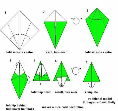 Simple Origami Tree - origami mauro diagrammi modelli tradizionali