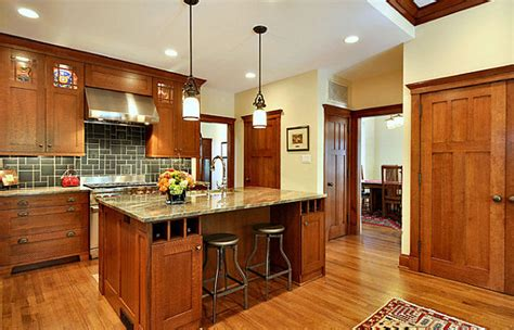 craftsman kitchen lighting craftsman style kitchen decoist