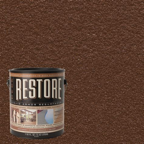 patio paint lowes shop restore 116 fl oz chocolate solid exterior stain at lowes