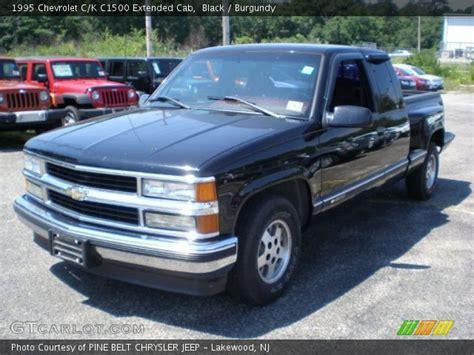 1995 chevrolet c1500 black 1995 chevrolet c k c1500 extended cab burgundy
