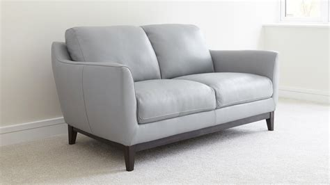 two seater leather sofa for small space uk delivery
