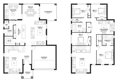 two storey house floor plan designs philippines home plan modern house design philippines best small two