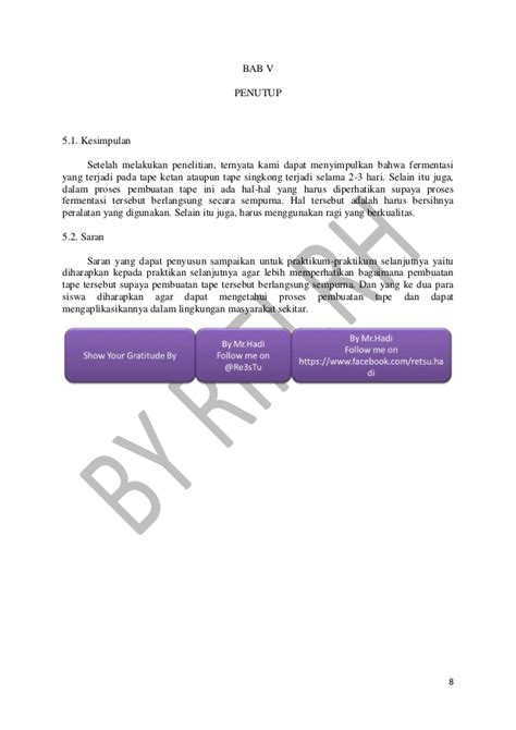laporan praktikum membuat tape singkong laporan bioteknologi