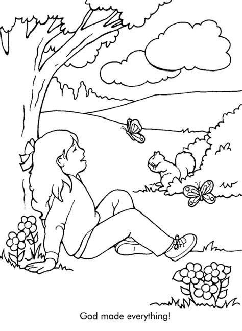 god made everything coloring page