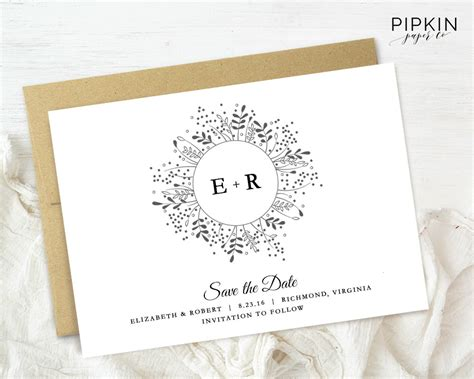 Electronic Save The Date Template by Save The Date Template Digital For Word Floral