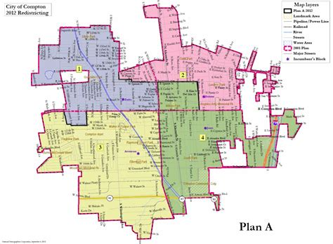 compton map city of compton proposed district boundaries