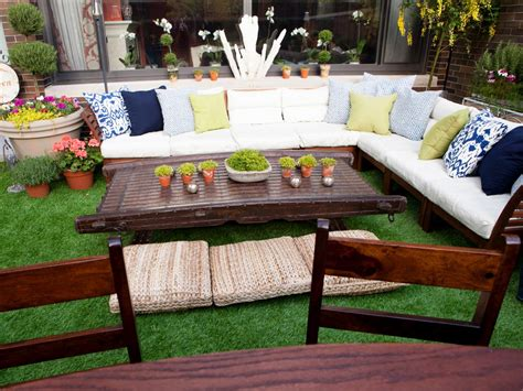 wood outdoor sectional photos hgtv