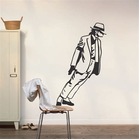 michael wall stickers michael jackson leaning wall decal pop singers