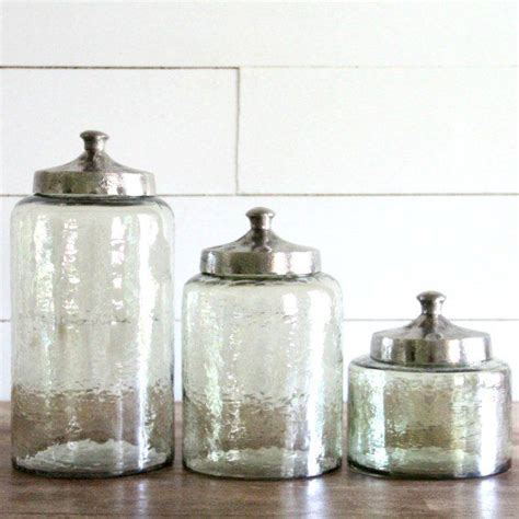 glass kitchen canister best 25 glass canisters ideas on glass