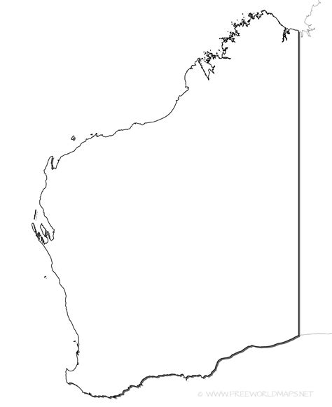 Blank Outline Map South Australia by Western Australia Maps At Blank Map Besttabletfor Me