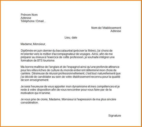 Exemple Lettre De Motivation R Inscription Lyc E 7 lettre de motivation pour un lyc 233 e format lettre