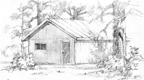 cabin sketch pencil drawings of cabins sketch coloring page