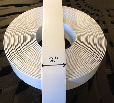 "2"" Vinyl Strap For Patio Furniture Repair 45' Roll   White"