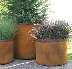garden cor ten planters awesome gardens pinterest