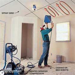 how to spray texture a ceiling how to apply knock ceiling texture the family handyman