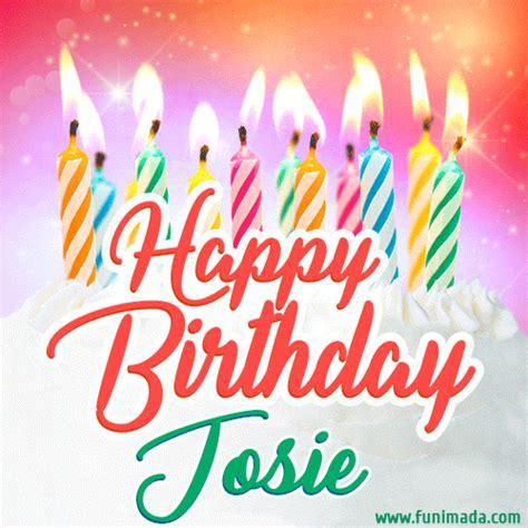 happy birthday gif  josie  birthday cake  lit