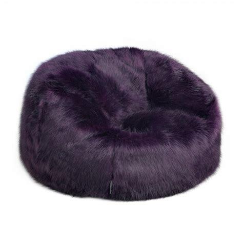 faux fur bean bag icon soho faux fur bean bag purple