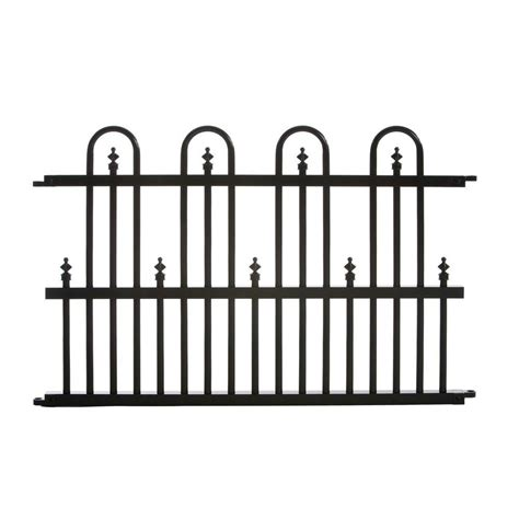 home depot decorative fence metal fencing fencing the home depot