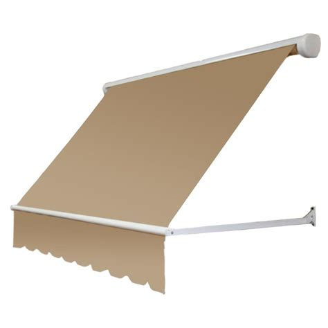 awntech retractable awning awntech 7 ft mesa window retractable awning 24 in projection in tan me7 t the