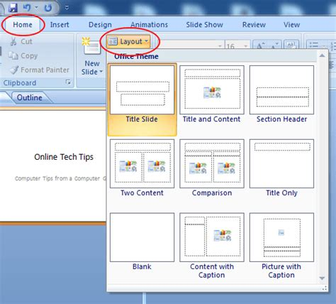 how to use powerpoint 2010 slide layouts change the layout of a powerpoint slide with just a few clicks