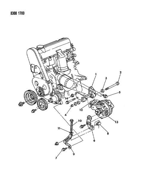 1989 dodge dakota parts 1989 dodge dakota alternator mtg 2 2 2 5 engine