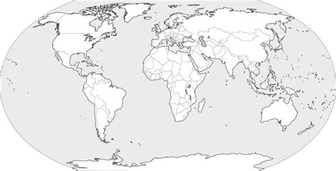world map image black and white with country names 卓號地圖 世界無字地圖