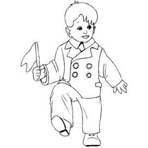boy dance coloring page dancing boy with flag coloring page