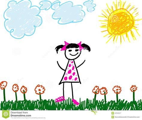 like drawing child like drawing of royalty free stock photography
