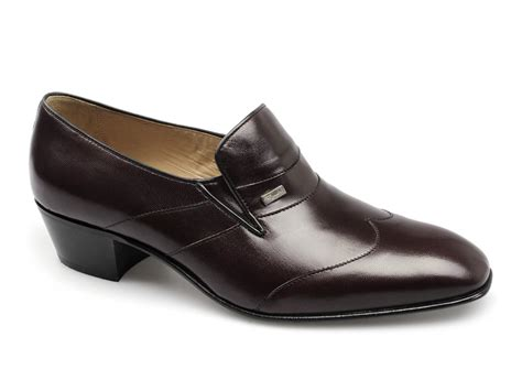 paco milan mens leather cuban heel shoes burgundy buy at