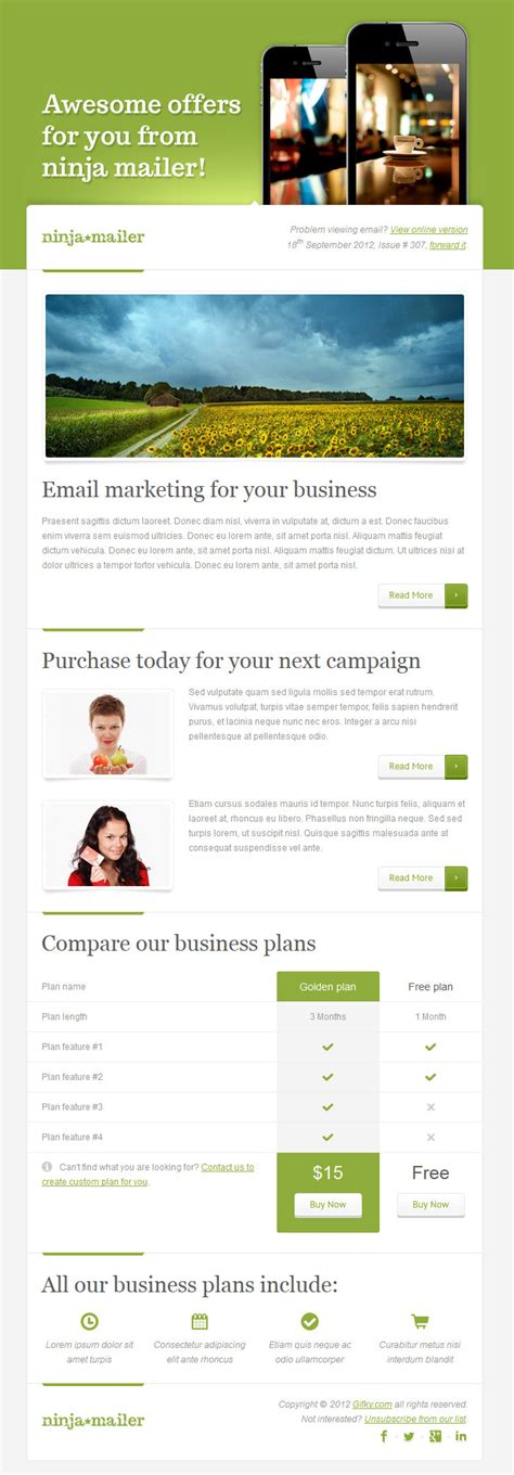 premium email templates mailer premium email template by gifky themeforest