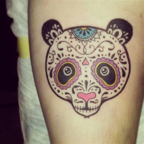 my sugar skull panda tattoo p super cool tattoos