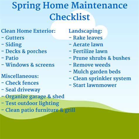 spring home tips spring home maintenance checklist png 800 215 800 spring