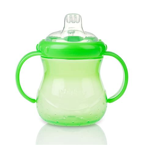 Nuby 360 Grip N Sip 2 In 1 Combo Spout Straw Sippy Cup 240ml 57 nuby baby easy grip n sip toddler non spill silicone spout