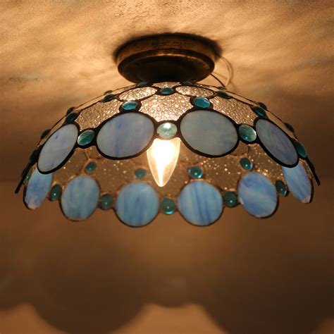 stained glass ceiling light covers style e27 stained glass 12 inch l