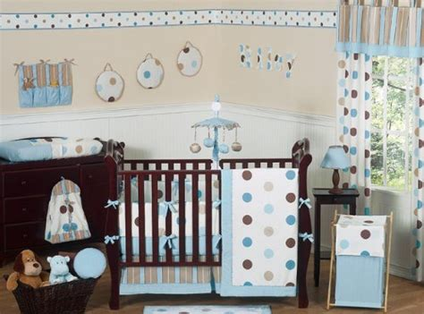 Brown And Blue Crib Bedding Low Price On Jojo Designs 9 Baby Crib Bedding Set Blue And Brown Modern Polka Dots