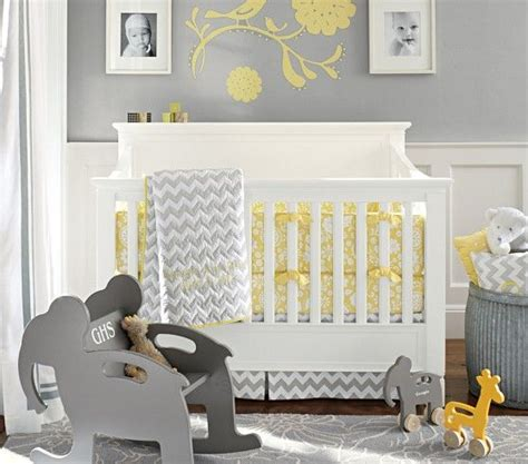 yellow baby shower yellow and gray pottery barn kids georgia baby bedding pottery gray yellow nursery and