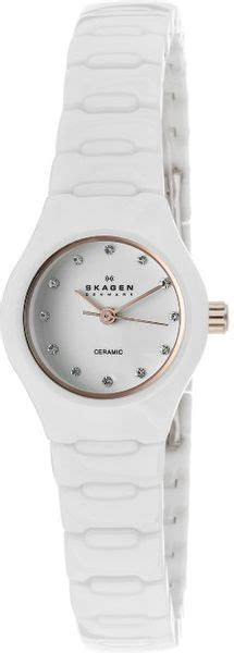 Ditte Ceramic Link - skagen womens white white ceramic 816xswxrc1 in