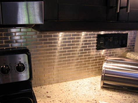 stainless steel tiles for kitchen backsplash shop for stainless steel 75 x2 5 metal tile brick pattern