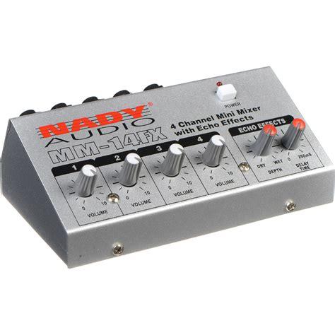 Mixer Mini nady mm 14fx 4 channel mini mixer with echo effects mm 14fx b h