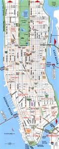 map of new york city new york road map of manhattan manhattan road map nymap net