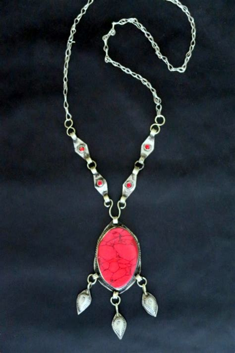 traditional afghan tribal jewelry souvenir necklace
