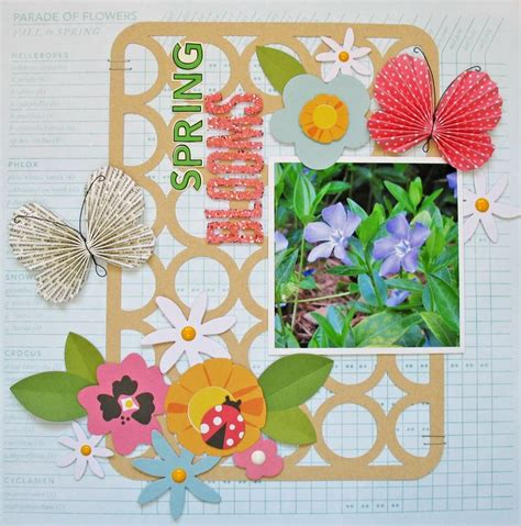 Floral Embellishments For Your Scrapbook Layouts by Blooms Pebbles Scrapbook Use Floral And