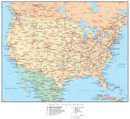 us map with cities and freeways awesome usa cities and states travelquaz