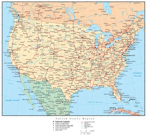 us cities map united states map with countries capitals us states cities travelquaz